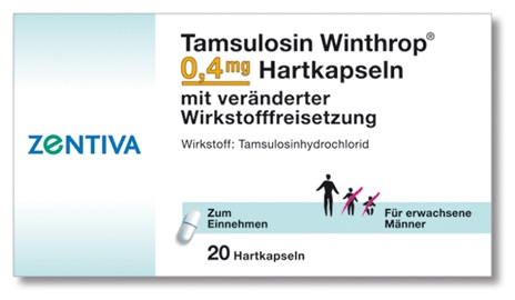 TAMSULOSIN Winthrop 0,4 mg Retardkapseln